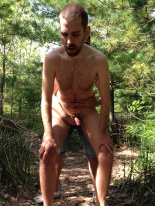 Bent over for a guy in the woods