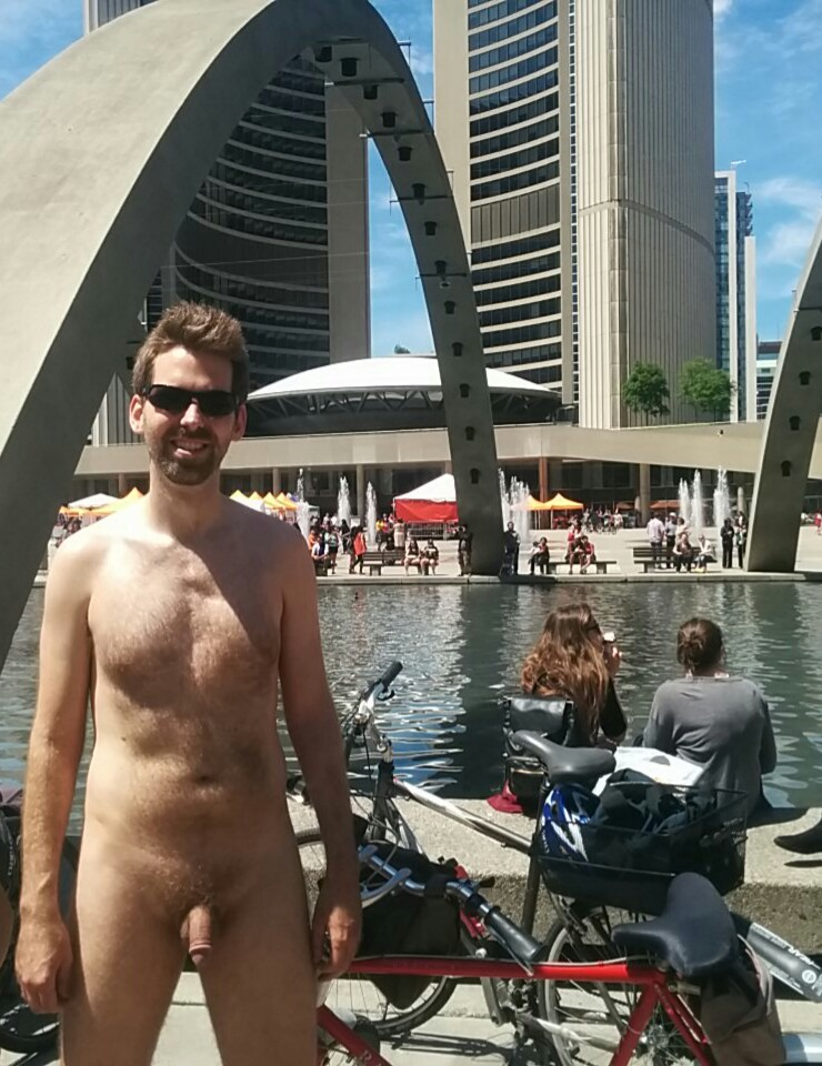 Naked at Toronto City Hall